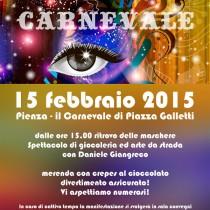 CARNEVALE A PIENZA <br> Domenica 15 Febbraio