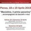 """Pienza 18-19 Aprile 2015 <br> """"Marzolino, il primo pecorino"""""""