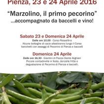 Marzolino, il primo pecorino <br> 23 e 24 Aprile 2016, Pienza