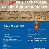 La notte dell'Archeologia e della Cultura di Pienza