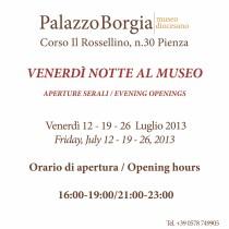 Venerdì 12, 19 e 26 Luglio 2013 <br> Venerdì Notte al Museo