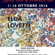 ELDA LOVETTI <br>Pienza – Fabbriceria <br> Dal 1 al 16 Ottobre 2016
