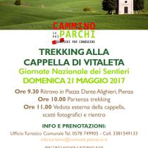 TREKKING ALLA CAPPELLA DI VITALETA <br> 21 Maggio ore 9.30